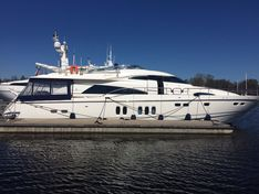 Яхта Blue Quest/Fairline Squadron 74